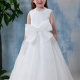 A-line Bateau Knee-Length Flower Girl Dress