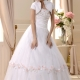 Amazing Strapless Floor-length Beaded Wedding Dress With Jacket Shawl
