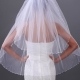 Pretty 2-layer Elbow Wedding Veil
