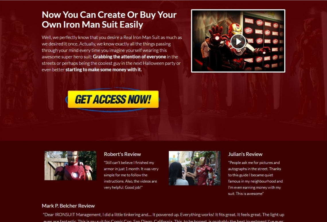 Now You Can Create Or Buy Your Own Iron Man Suit Easily