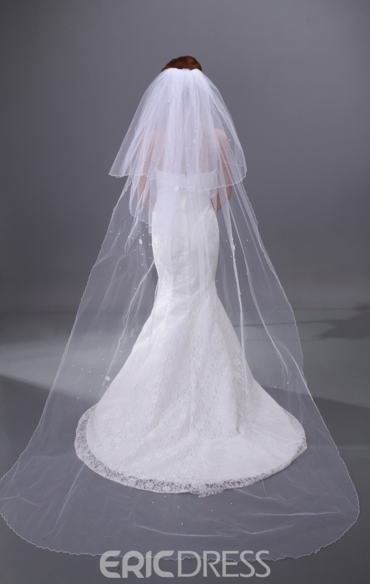 Simple Cathedral Wedding Veil