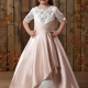 Gorgeous Princess Scoop Embroidery Applique Flower Girls Dress